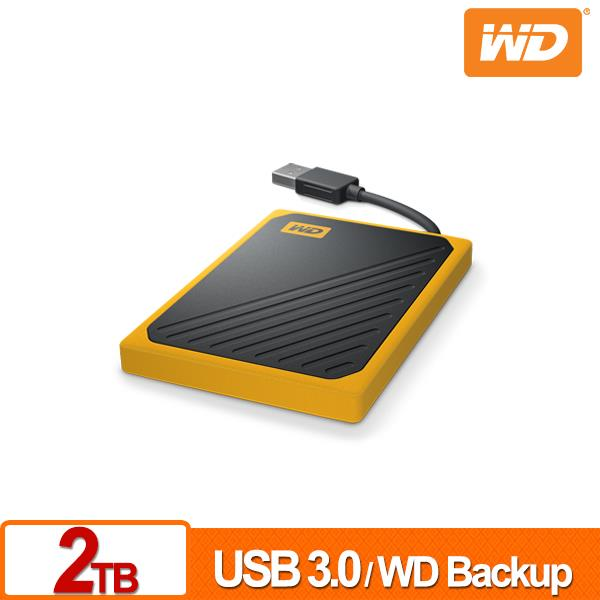 WD My Passport Go 2TB(黑/琥珀黃) 外接SSD